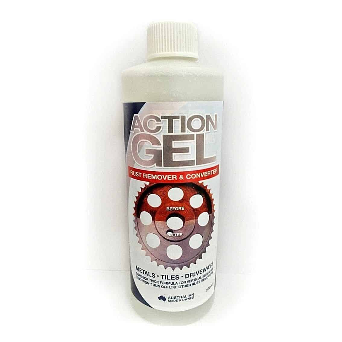 Action Gel RUST REMOVER & CONVERTER 250ml for Metals Tiles Driveways