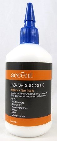A PVA wood glue by accent which is non toxic